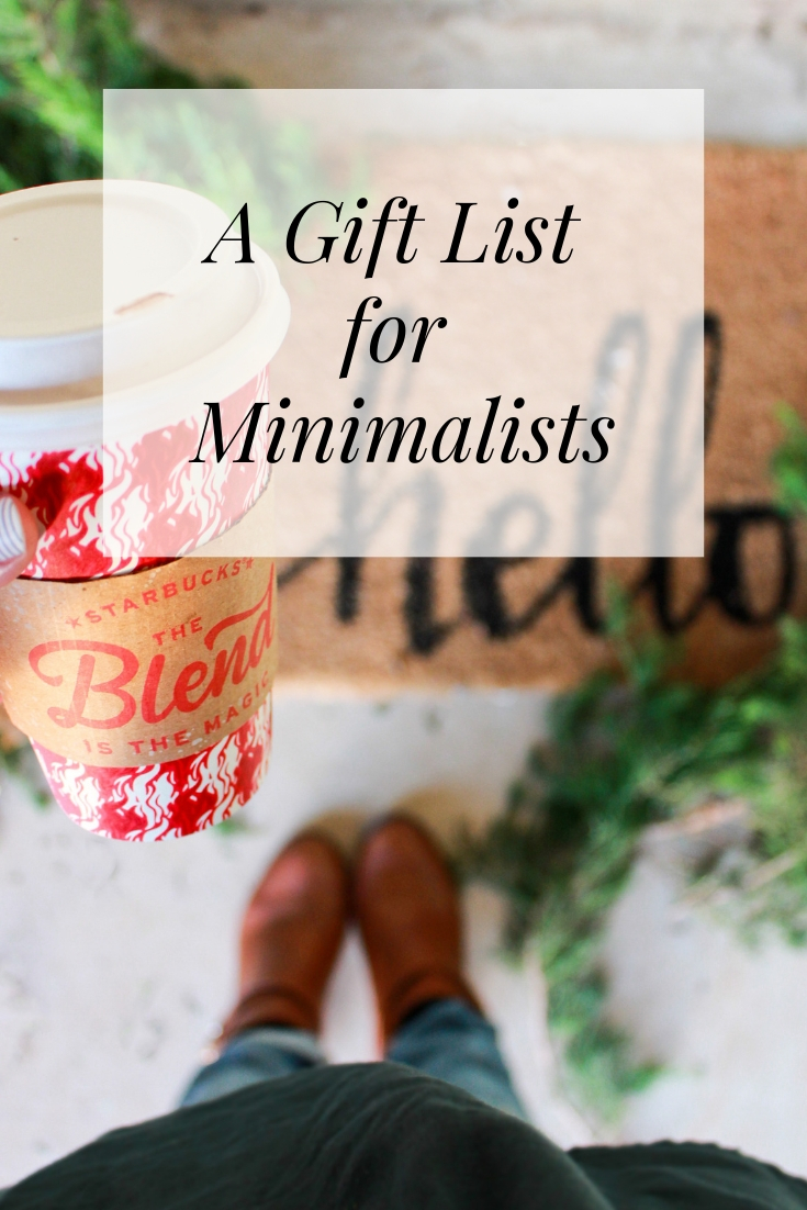 A Gift list for Minimalist